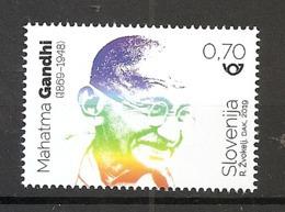 SLOVENIA  2019,150 YEARS OF THE BIRTH OF MAHATMA GANDHI,MNH - Mahatma Gandhi