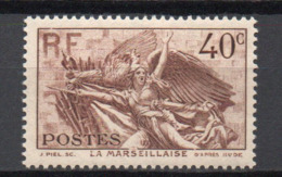 - FRANCE N° 315 Neuf ** MNH - 40 C. Brun La Marseillaise 1936 - Cote 13 EUR - - Francia