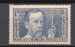 - FRANCE N° 333 Neuf ** MNH - 1 F. 50 + 50 C. Outremer Louis Pasteur 1936 - Cote 50 EUR - - France