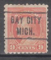 USA Precancel Vorausentwertung Preo, Locals Michigan, Bay City 1914-L-4 HS - Preobliterati
