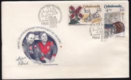 Czechoslovakia 1979 / 1st Anniversary Of Russian-Czech Space Flight / Soyuz 28, Touch Down - INTERKOSMOS - FDC & Commemoratives