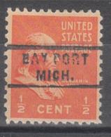 USA Precancel Vorausentwertung Preo, Locals Michigan, Bay Port 743 - Vorausentwertungen