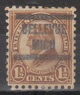 USA Precancel Vorausentwertung Preo, Locals Michigan, Bellevue 582-567 - Vorausentwertungen