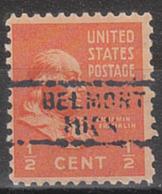 USA Precancel Vorausentwertung Preo, Locals Michigan, Belmont 729 - Vorausentwertungen