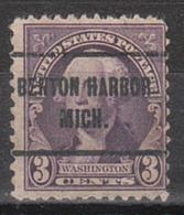 USA Precancel Vorausentwertung Preo, Locals Michigan, Benton Harbor 720-257 - Vorausentwertungen