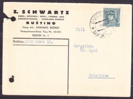 CZECHOSLOVAKIA - CARPATHIA 1939, Company Postal Leaflet ( Z. SCHWARTZ, GROCERY AND FLOUR - BUSTINO ) - Carpatho-Ukraine