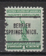 USA Precancel Vorausentwertung Preo, Locals Michigan, Berrien Springs 705 - Vorausentwertungen