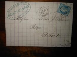 Lettre GC 3316 Saujon Charente Inferieure Avec Correspondance - 1849-1876: Période Classique