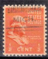 USA Precancel Vorausentwertung Preo, Locals Michigan, Birmingham 632 - Vorausentwertungen