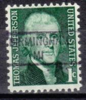 USA Precancel Vorausentwertung Preo, Locals Michigan, Birmingham 841 - Vorausentwertungen
