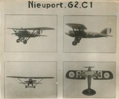 AVION NIEUPORT G2 C1 AVEC CARACTÉRISTIQUES  AU VERSO PHOTO ORIGINALE FORMAT 15.50 X 13 CM - Aviation