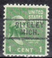 USA Precancel Vorausentwertung Preo, Locals Michigan, Biteley 729 - Vorausentwertungen