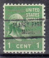 USA Precancel Vorausentwertung Preo, Locals Michigan, Blaney Park 734 - Vorausentwertungen
