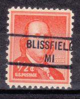 USA Precancel Vorausentwertung Preo, Locals Michigan, Blissfield 841 - Vorausentwertungen
