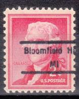 USA Precancel Vorausentwertung Preo, Locals Michigan, Bloomfield Hils 848 - Vorausentwertungen
