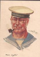 Première Guerre Mondiale Ennemis Amis De France Marin Anglais Artiste Emile Dupuis - Francia