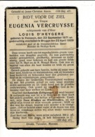 DP 8308 - EUGENIA VERCRUYSSE - HALEWYN 1871 + BRUGGE 1929 - Religión & Esoterismo