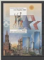 Olympische Spelen  1984 , Centraal Afrika - Blok Ongetand Postfris - Summer 1984: Los Angeles