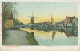 Bodegraven; Rijngezicht (met O.a. Molen) - Gelopen. (D. Kraaijenbrink - Woerden) - Autres