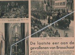 BRASSCHAAT..1937.. DE LAATSTE EER AAN DE GEVALLENEN VAN BRASSCHAAT ONTPLOFFING IN HET LEGERKAMP - Non Classés