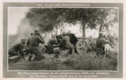 Real Photo  Infanteriewaffen Panzerjager Kanone  Adolf Hitler - Guerra 1939-45