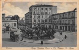 "09637 ""TARANTO - PIAZZA GIORDANO BRUNO E VIA FEDERICO DI PALMA"" ANIMATA, TRAMWAY.  CART  SPED 1935 - Taranto"