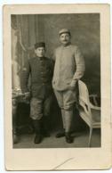 Homme Man Portrait Duo Rppc Carte Photo Militaire WW1 14-18  ? à Situer Identifier 110 E Regiment - Guerre, Militaire