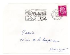 VAL De MARNE - Dépt N° 94 VILLENEUVE St GEORGES Ppal 1968 = FLAMME Codée = SECAP  ' N° De CODE POSTAL / PENSEZ-Y ' - Postleitzahl
