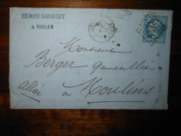 Lettre GC 3244 Rugles Eure Avec Correspondance - 1849-1876: Période Classique