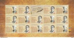 Indonesia 2019 - Indonesie Full Sheets Poets MNH - Indonesien