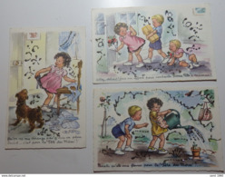 Illustrateur: J. Lagarde - Lot De 3 Cartes Postales - JG - Circulé - 2 Scans - Illustratori & Fotografie