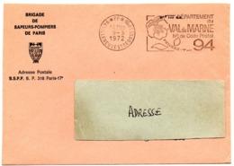 VAL De MARNE - Dépt N° 94  VILLENEUVE St GEORGES Ppal 1972 = FLAMME PP Codée = SECAP  ' N° De CODE POSTAL / PENSEZ-Y ' - Postleitzahl