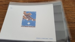 LOT 474955 TIMBRE DE COLONIE POLYNESIE NEUF** EPREUVE DE LUXE - Polynésie Française