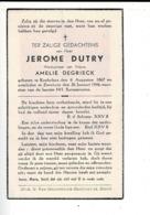 DP 8325 - JEROME DUTRY - KOEKELARE 1867 + ZEVEKOTE 1946 - Imágenes Religiosas