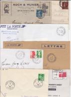 Lot Département 67 BAS RHIN : 81 Plis Divers De STRASBOURG ( TàD Manuel Flier Megras Secap Nec Toshiba MOG EMA ) - Postmark Collection (Covers)