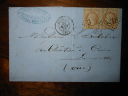 Lettre GC 3218 Roubaix Nord Avec Correspondance - 1849-1876: Klassik