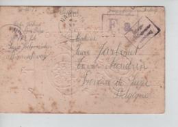 PR7467/ CP Fantaisie Bonne Année Camp De Holzminden (Braunschweig) PDG-POW-KFS Censures > Nandrin C.d'arrivée 1917 - WW I