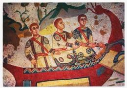 CPSM 10.5 X 15 Italie (278) PIAZZA ARMERINA Mosaïques Romaine Ambulacro Della Grande Caccia-Barca Fluviale - Enna