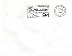 VAL De MARNE - Dépt N° 94  VILLENEUVE Le ROI 1966 = FLAMME PP Codée = SECAP  ' N° De CODE POSTAL / PENSEZ-Y ' - Postleitzahl