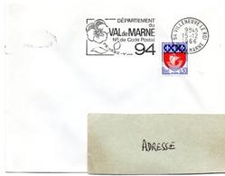 VAL De MARNE - Dépt N° 94 VILLENEUVE Le ROI 1966 = FLAMME Codée = SECAP  ' N° De CODE POSTAL / PENSEZ-Y ' - Postleitzahl