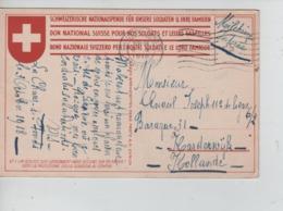 PR7468/ CP Croix Rouge Suisse Militaire Suisse C.La Chaux De Fonds 3/10/18 > Militaire Interné Belge Camp De Harderwijk - WW I