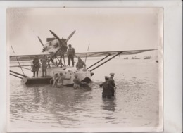 ATLANTIC FLIGHT CAPT FT COURTNEY'A SOUTHAMPTON TO NEW YORK  DORNIER NAPIER FLYING  25*20CM Fonds Victor FORBIN 1864-1947 - Aviazione