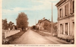 33 SAINT MEDARD DE GUIZIERES RUE DES GIRONDINS CARTE COULEUR DENTELEE - France