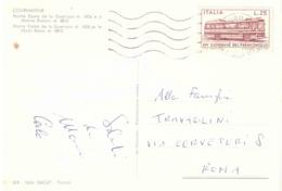 1972 £25 XIV GIORNATA DEL FRANCOBOLLA CARTOLINA COURMAYEUR NOTRE DAME DE LA GUARISON - Giornata Del Francobollo