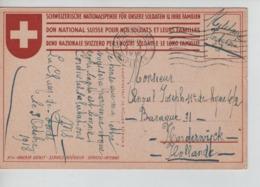 PR7470/ CP Croix Rouge Suisse Militaire Suisse C.La Chaux De Fonds 3/10/18 > Militaire Interné Belge Camp De Harderwijk - WW I