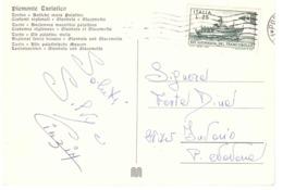 1971 £25 XIV GIORNATA DEL FRANCOBOLLA CARTOLINA TORINO MURA E COSTUMI GIANDUIA E GIACOMETTA - Giornata Del Francobollo