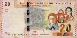 BOLIVIA 20 BOLIVIANOS L.1986 (2018) P-249a UNC [BO249a] - Bolivië