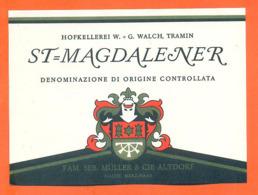 étiquette De Vin Suisse St Magdalener Famille Seb Muller Et Cie à Altdorf - 75 Cl - Vin De Pays D'Oc