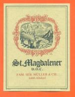 étiquette De Vin Suisse Saint Magdalener Famille Seb Muller Et Cie à Altdorf - 75 Cl - Vin De Pays D'Oc