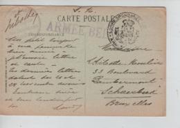 PR7471/ CP Rouen En S.M. C.Correspondance Privée Gff Armée Belge + A.B.Compagnie Des Subsistants Rouen > Schaerbeek - Armée Belge